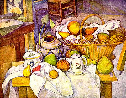 Paul Cezanne-Still Life With Pot And Jars