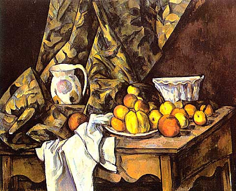 Paul Cezanne-Still Life With Apples and Peaches