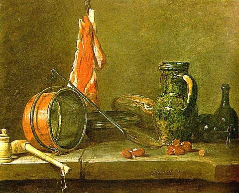 Simeon Chardin-Lean Diet with Cooking Utensils