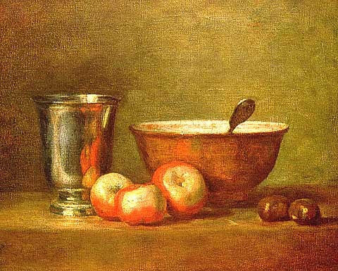 Simeon Chardin-The Silver Goblet