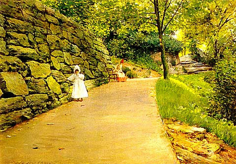 William Merritt Chase-In The Park