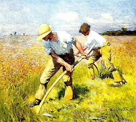 George Clausen-The Mowers
