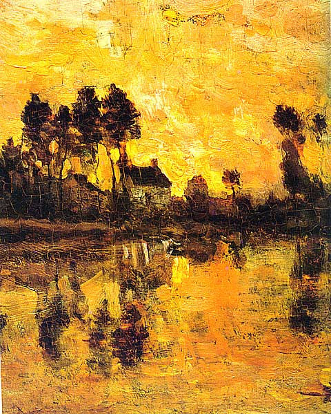 Daubigny-Sunset on the Oise