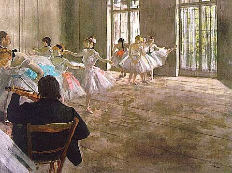 Edgar Degas-Dance School