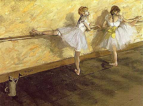 Edgar Degas-Dancers Practicing at the Bar