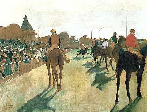 Edgar Degas-Horses Before the Stands