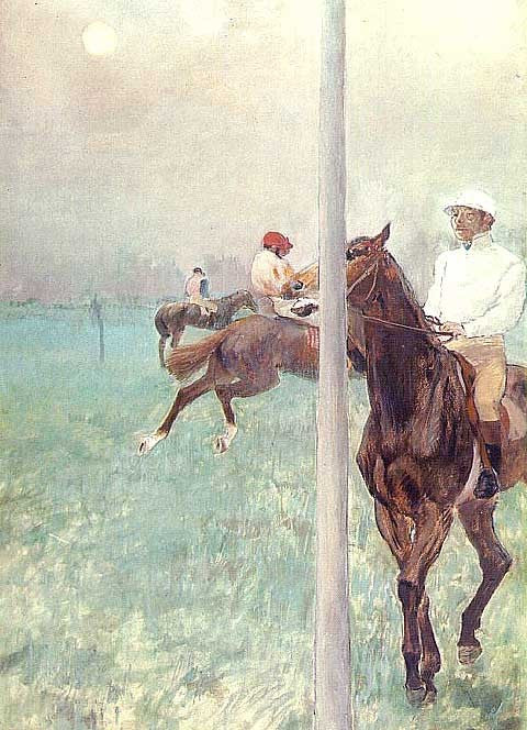 Edgar Degas-Jockeys Before the Race