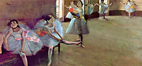 Edgar Degas-The Dance Lesson