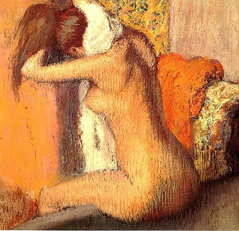 Edgar Degas-After The Bath