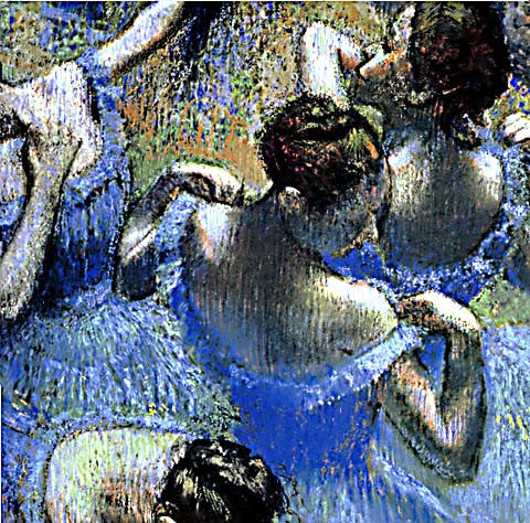Edgar Degas-Blue Dancers