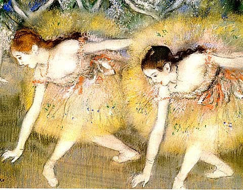 Edgar Degas-Dancers Bending Over