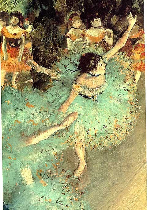 Edgar Degas-Green Dancers