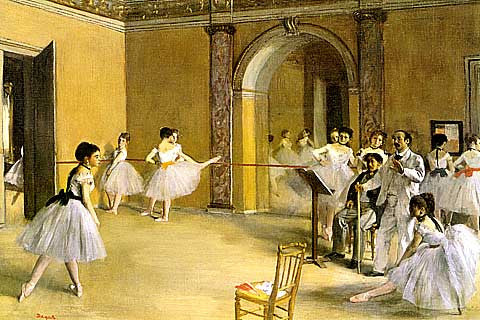 Edgar Degas-The Foyer Of The Opera