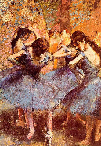 Edgar Degas-Dancers in Blue