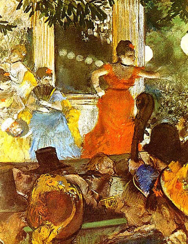 Edgar Degas-At The Cafe Des Ambassadeurs