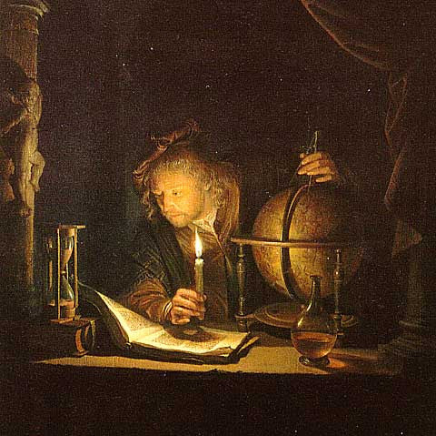 Gerard Dou-Astronomer by Candlelight