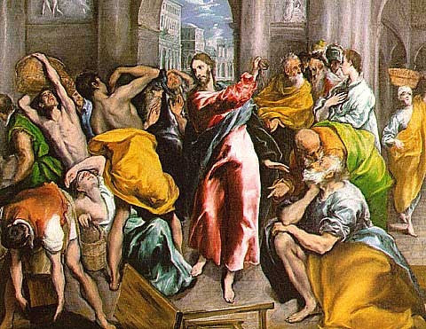 El Greco-Christ Driving the Traders from the Temple