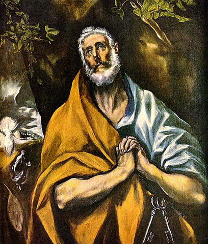 El Greco-The Repentant Of St Peter