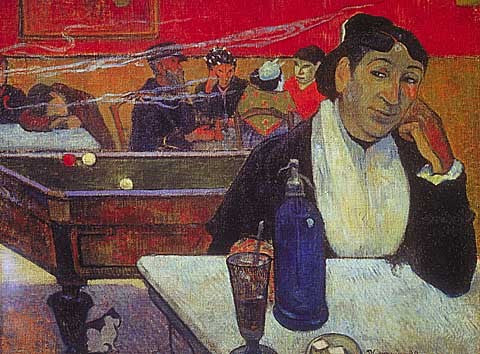 Paul Gauguin-Cafe At Arles