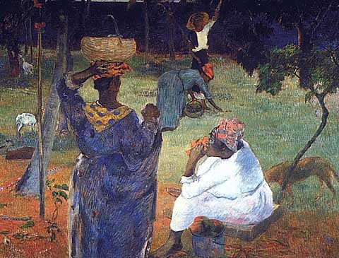 Paul Gauguin-Gathering Fruit