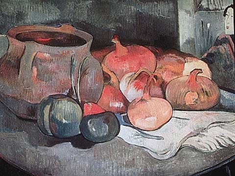 Paul Gauguin-Still Life With Onions