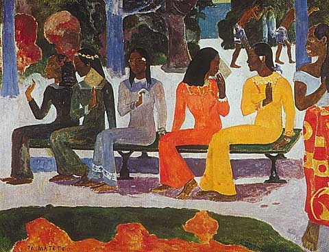 Paul Gauguin-The Market