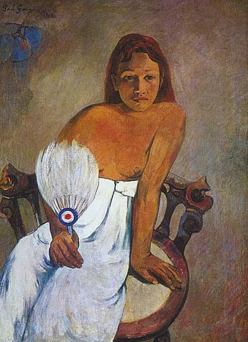 Paul Gauguin- Woman With A Fan