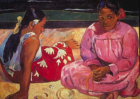 Paul Gauguin-Two Woman in The Beach