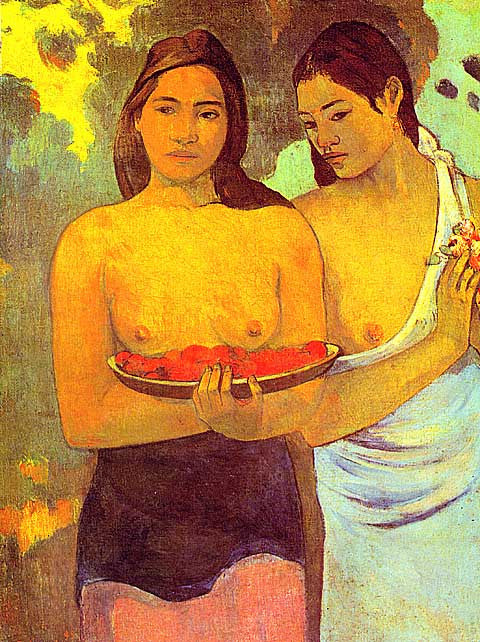 Paul Gauguin-Red Flowers