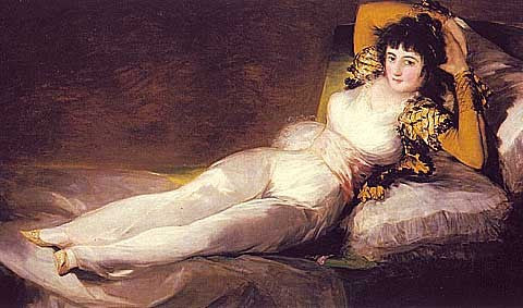 Francisco de Goya-The Clothed Maja