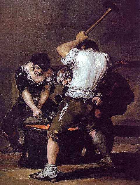 Francisco de Goya-The Forge