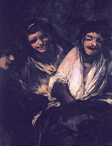 Francisco de Goya-Two Young People Laughing at a Man