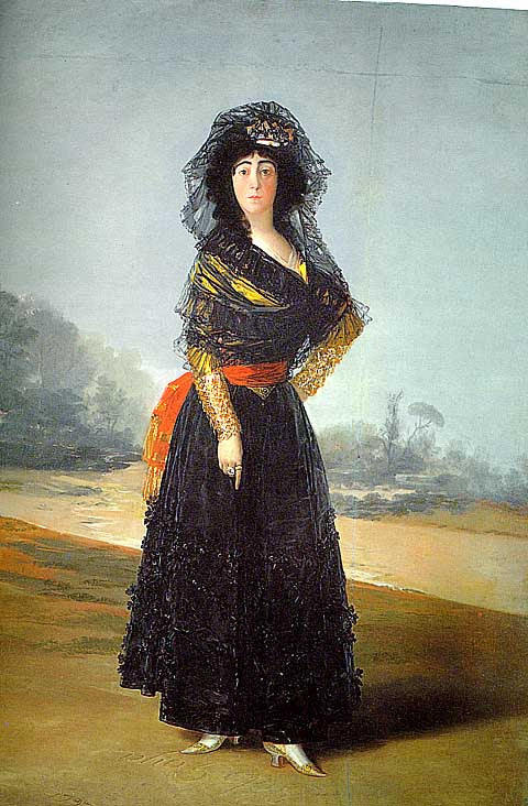 Francisco de Goya-Duchess of Alba