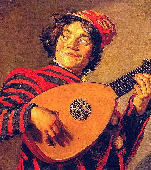 Frans Hals-Jester with a Lute