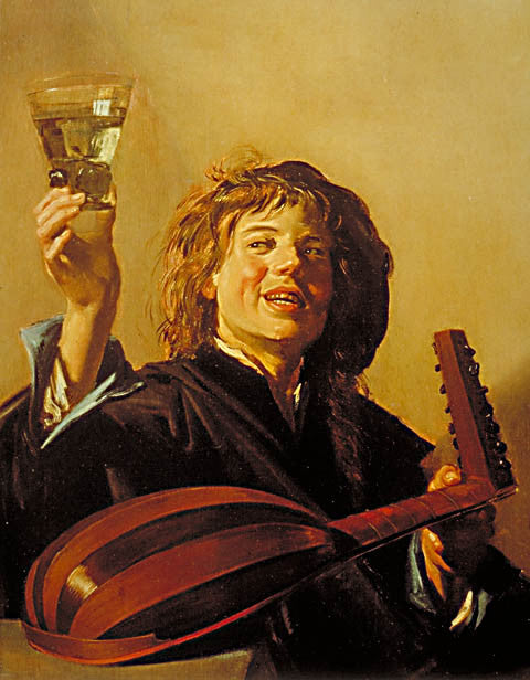 Frans Hals-The Merry Lute Player