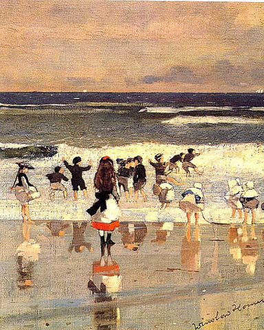 Winslow Homer-Beach Scene