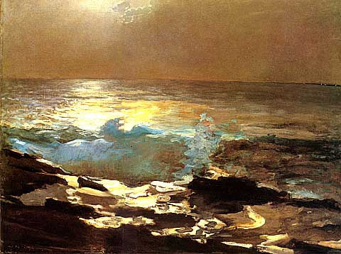 Winslow Homer-Moonlight