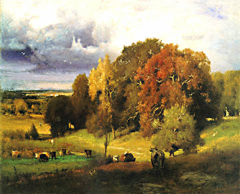 George Inness-Autumn Oaks