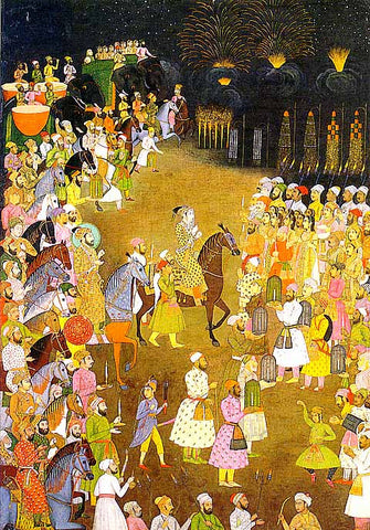 Unknown Artist-Night Celebration At The Wedding Of Prince Dara Shikoh