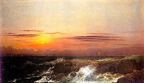 J. Jeade-Sunset At Sea