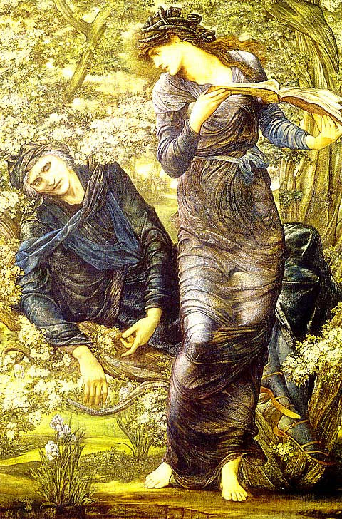 Burne Jones-The Beguiling of Merlin