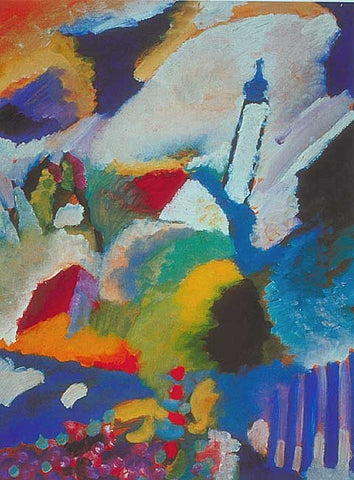 Wassily Kandinsky-Mumau With Church 1908