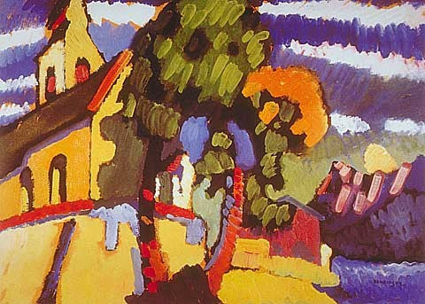 Wassily Kandinsky-Riegsee The Village Church 1908