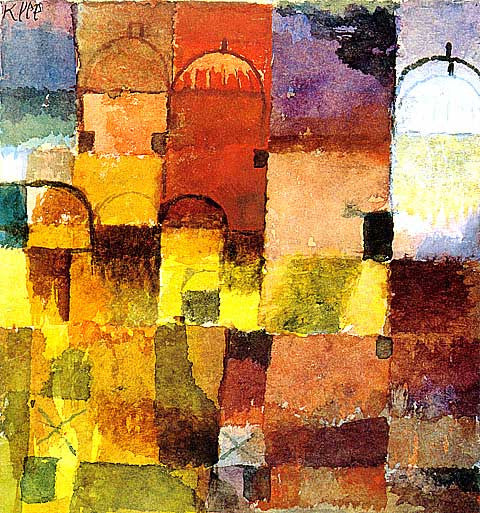 Paul Klee-Red and White Domes