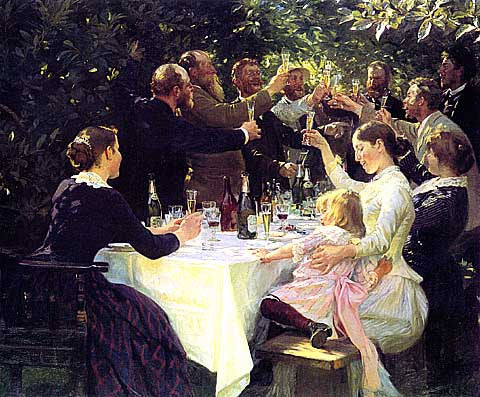 Peder Severin Kroyer- Hip, Hip, Hurrah