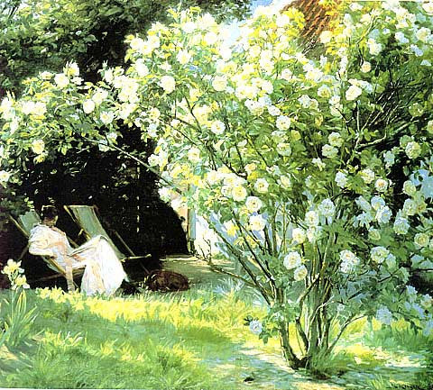 Peder Severin Kroyer-Rose Garden