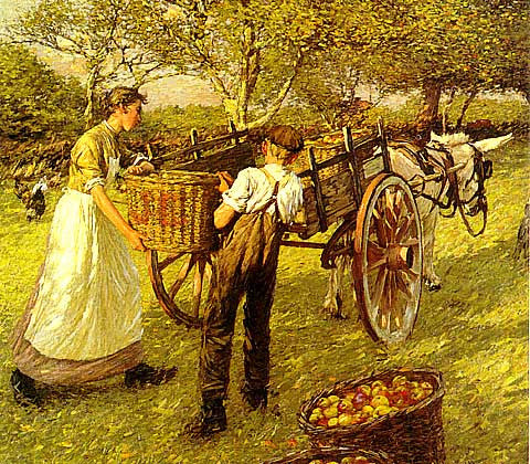 H. H. La Thangue- A Sussex Orchard