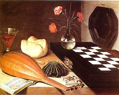 G. De La Tour-Still Life With Chess Board