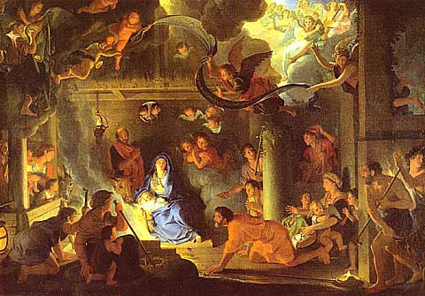 Le Brun-The Adoration Of The Shepherds