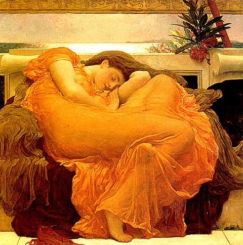 Frederic Lord Leighton-Flaming June